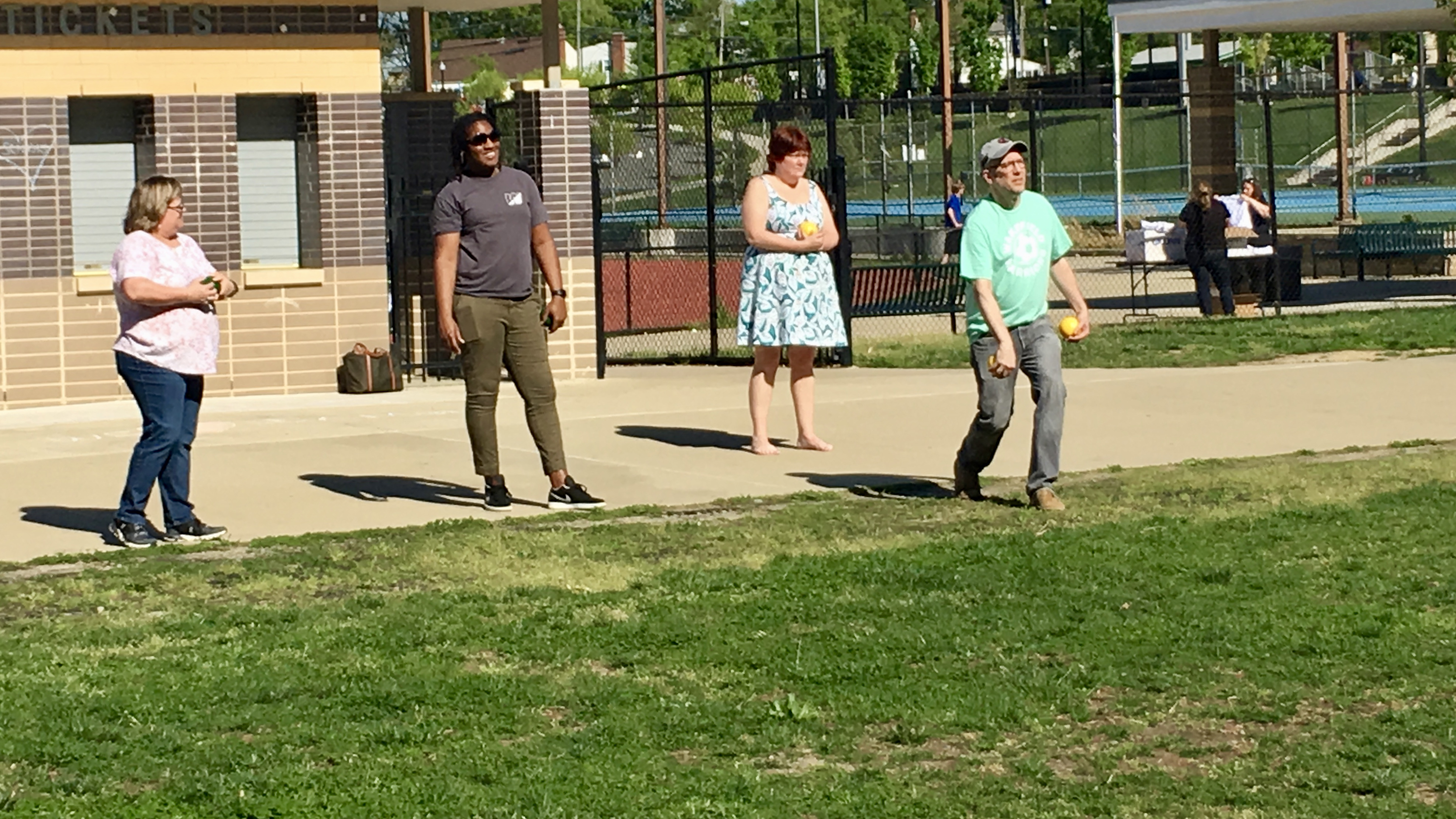 Staff Competes in First Bocce Blast Tournament