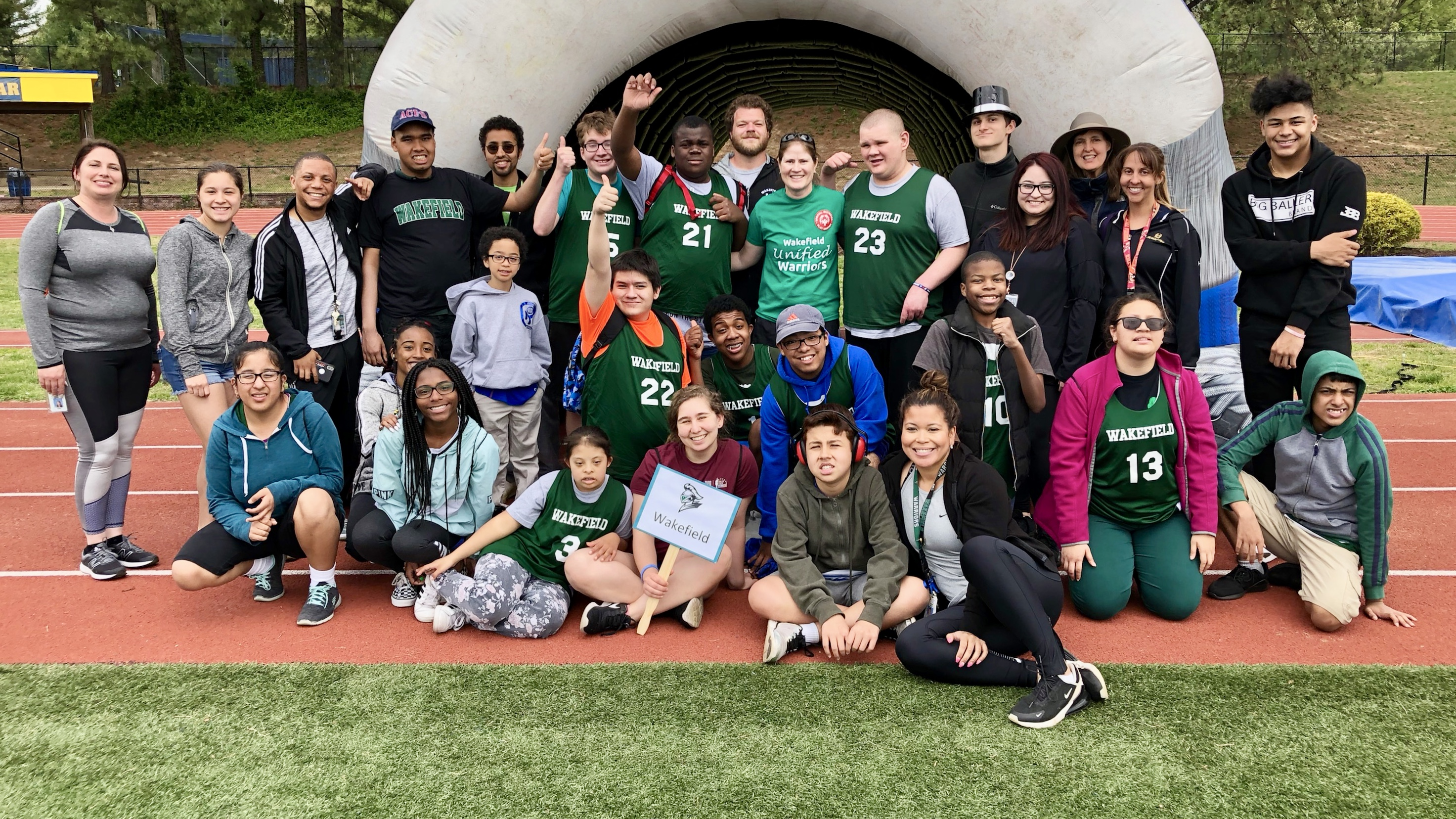 Wakefield is an official Special Olympics National Banner Unified Champion School