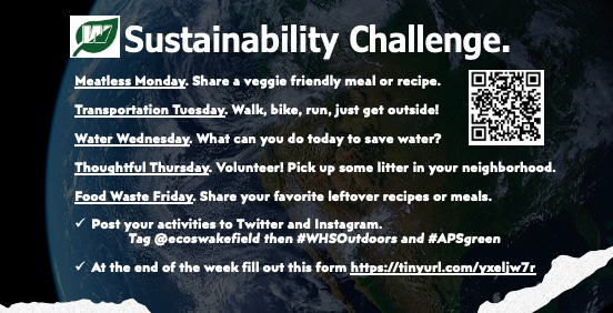 Sustainability Club Earth Week Challenge: April 19-23, 2021
