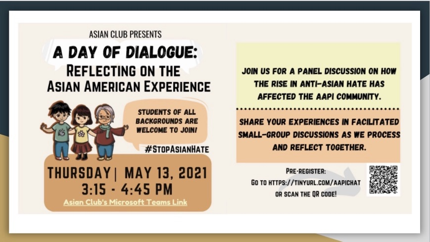 """All are Welcome to """"A Day of Dialogue: Reflecting on the Asian American Experience""""- Thursday, May 13th"""
