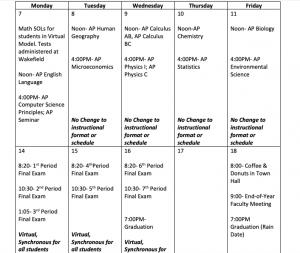 Schedule June 7th-18th