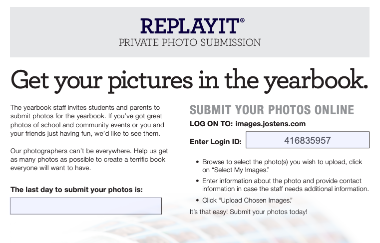 Submit Your Yearbook Photos